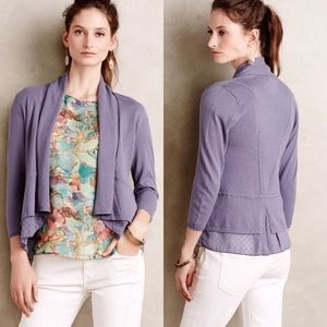 NWT Anthropologie Angel of the North Open Cardigan